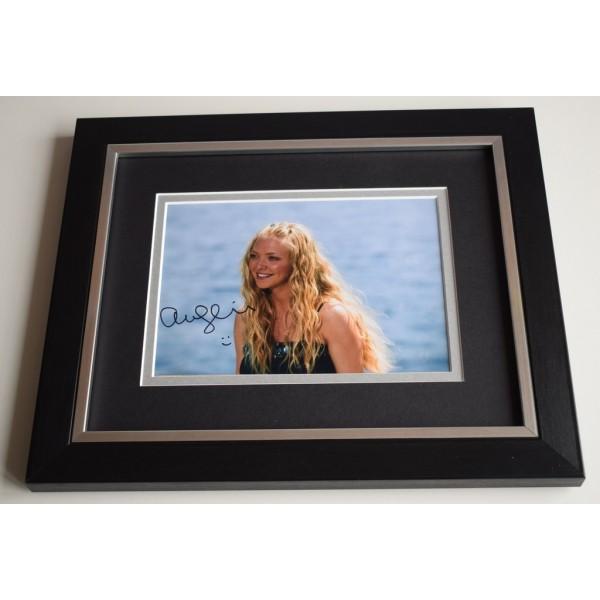 Amanda Seyfried SIGNED 10X8 FRAMED Photo Autograph Display Mamma Mia Film & COA AFTAL MEMORABILIA