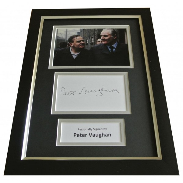 Peter Vaughan Signed A4 FRAMED Photo Mount Autograph Display Porridge TV & COA PERFECT GIFT