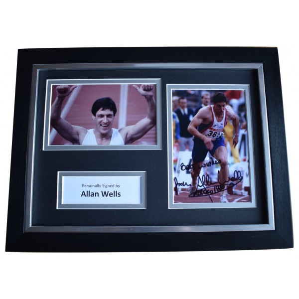 Allan Wells Signed A4 FRAMED Autograph Photo Display Olympic Games   AFTAL  COA Memorabilia PERFECT GIFT