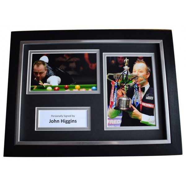 John Higgins Signed A4 FRAMED Autograph Photo Display Snooker Sport   AFTAL  COA Memorabilia PERFECT GIFT