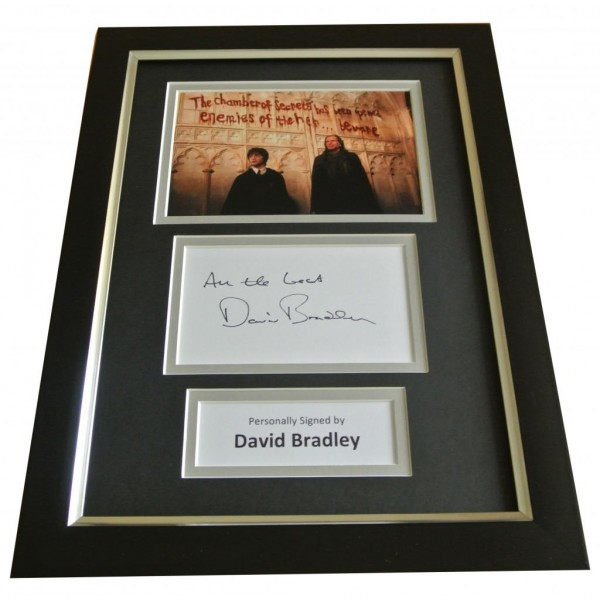 David Bradley Signed A4 FRAMED Photo Autograph Display Harry Potter Filch & COA PERFECT GIFT