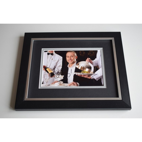 Michel Roux Jr SIGNED 10X8 FRAMED Photo Autograph Saturday Kitchen Display COA TV CHEF AFTAL MEMORABILIA