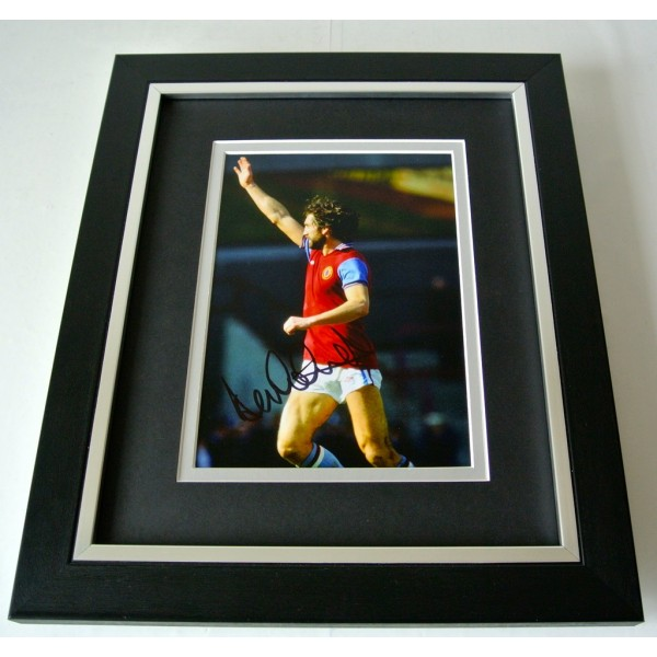 Dennis Mortimer SIGNED 10X8 FRAMED Photo Autograph Display Aston Villa PROOF COA   PERFECT GIFT