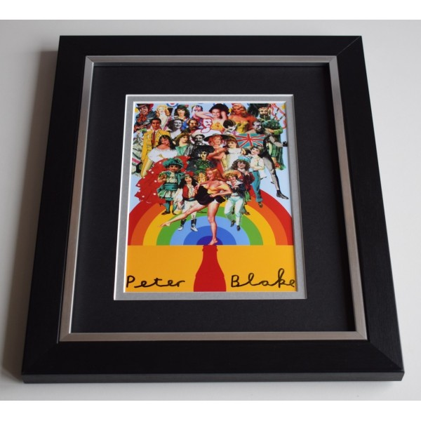 Sir Peter Blake SIGNED 10X8 FRAMED Photo Autograph Display Artist AFTAL COA MEMORABILIA
