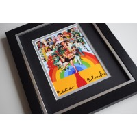 Peter Blake SIGNED 10X8 FRAMED Photo Autograph Display Artist AFTAL COA MEMORABILIA
