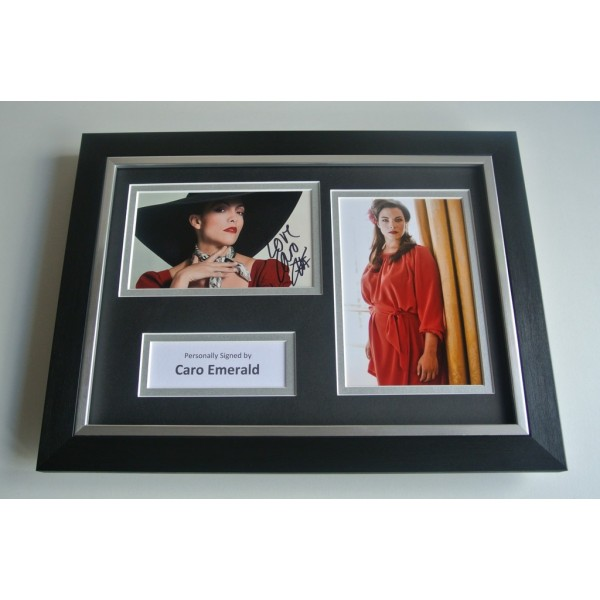 Caro Emerald Signed A4 FRAMED photo Autograph display Music COA & AFTAL Memorabilia PERFECT GIFT