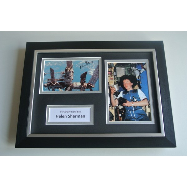 Helen Sharman Signed A4 FRAMED photo Autograph display MIR Space Station COA & AFTAL Memorabilia PERFECT GIFT