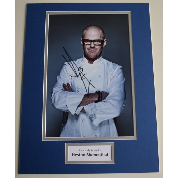 Heston Blumenthal SIGNED autograph 16x12 photo display TV Chef AFTAL &  COA Memorabilia