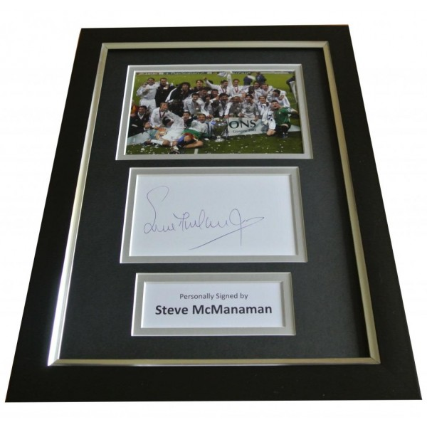 Steve McManaman Signed A4 FRAMED Photo Autograph Display Real Madrid & COA PERFECT GIFT