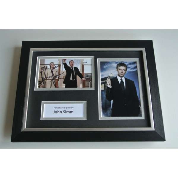 John Simm Signed A4 FRAMED photo mount Autograph display TV Doctor Who COA & AFTAL Memorabilia PERFECT GIFT