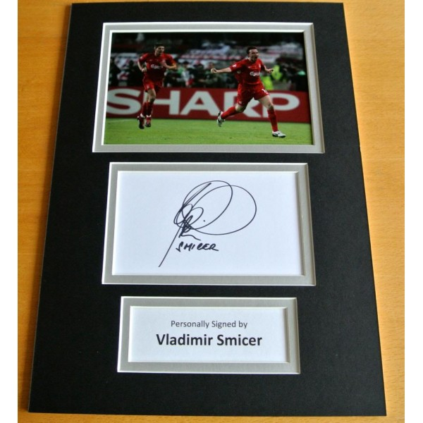 VLADIMIR SMICER HAND SIGNED AUTOGRAPH A4 PHOTO DISPLAY LIVERPOOL GIFT & COA PERFECT GIFT