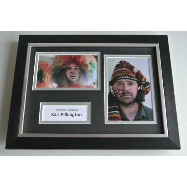 Karl Pilkington Signed A4 FRAMED photo mount Autograph display Idiot Abroad  COA & AFTAL Memorabilia PERFECT GIFT