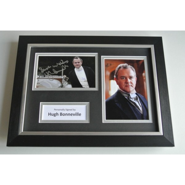 Hugh Bonneville Signed A4 FRAMED photo Autograph display Downton Abbey TV COA & AFTAL Memorabilia PERFECT GIFT