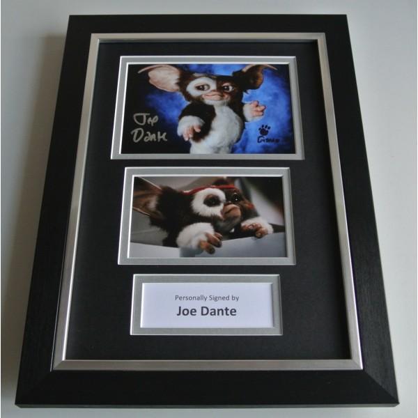 Joe Dante Signed A4 FRAMED photo mount Autograph display Gremlins Film COA & AFTAL Memorabilia PERFECT GIFT