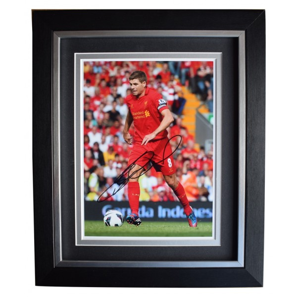 Carling Cup Steven Gerrard Soccer Football Signed Autographed A4 Photo Print