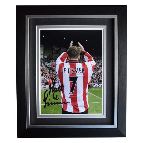 Matt le Tissier SIGNED 10x8 FRAMED Photo Autograph Display Southampton Football   AFTAL  COA Memorabilia PERFECT GIFT