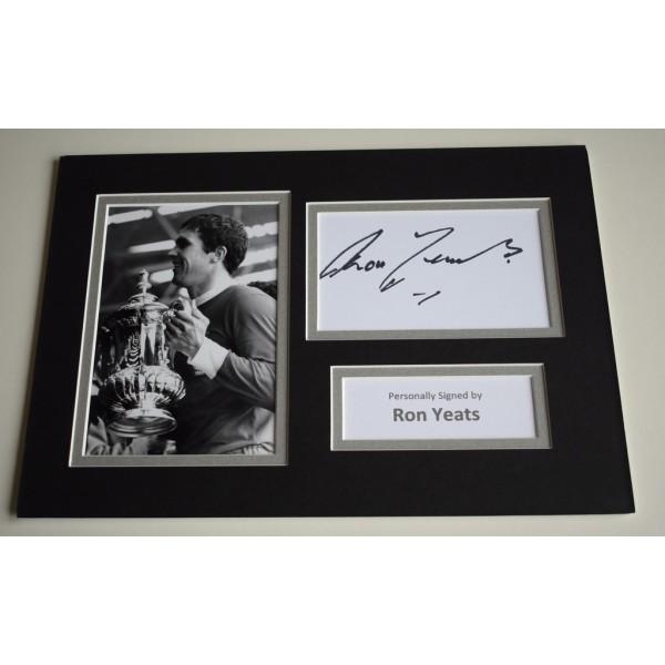 Ron Yeats Signed Autograph A4 photo mount display Liverpool Football AFTAL COA AFTAL MEMORABILIA