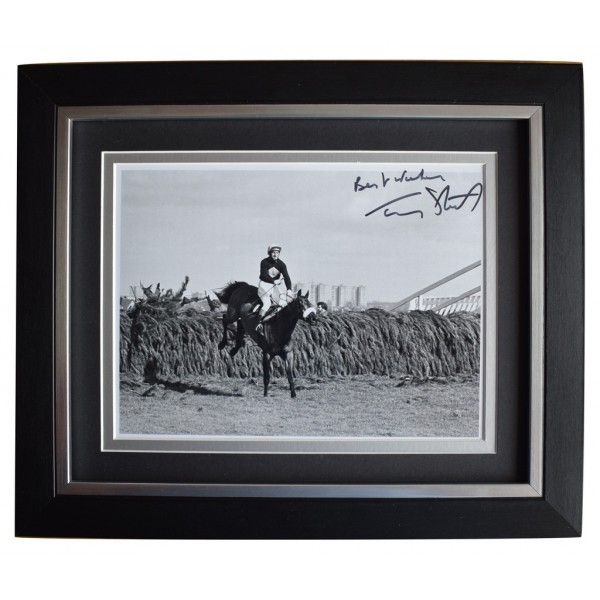 Tommy Stack SIGNED 10x8 FRAMED Photo Autograph Display Red Rum Grand National  AFTAL  COA Memorabilia PERFECT GIFT