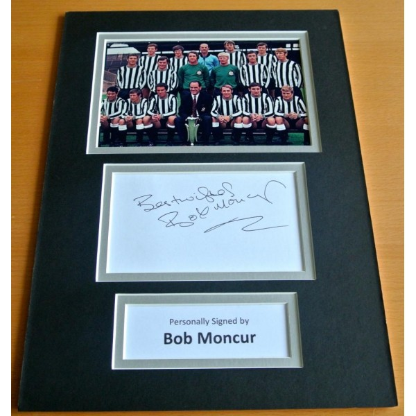 Bob Moncur SIGNED autograph A4 Photo Mount Display Newcastle Utd Football AFTAL & COA Memorabilia PERFECT GIFT