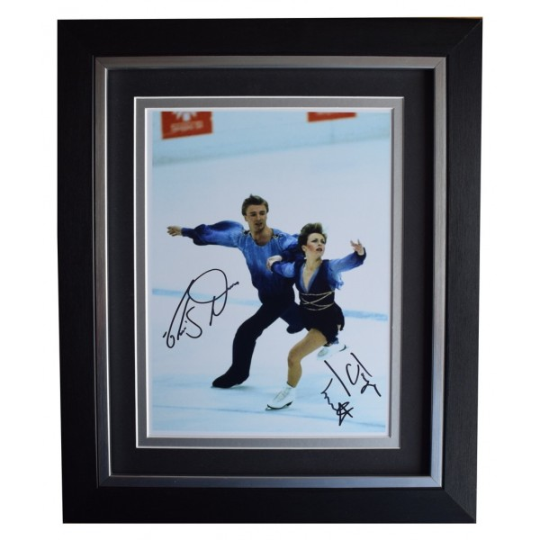 Torvill & Dean SIGNED 10x8 FRAMED Photo Autograph Display Ice Skating Bolero AFTAL  COA Memorabilia PERFECT GIFT