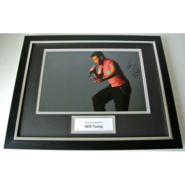 Will Young SIGNED FRAMED Photo Autograph 16x12 display Pop Idol Music & COA  PERFECT GIFT