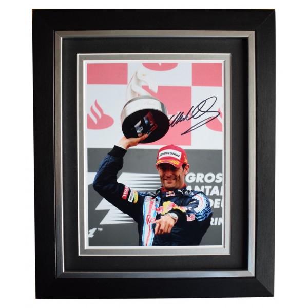 Mark Webber SIGNED 10x8 FRAMED Photo Autograph Display Formula 1 Motor Sport  AFTAL  COA Memorabilia PERFECT GIFT