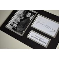 Lawrie McMenemy Signed Autograph A4 photo display Southampton Football AFTAL Memorabilia