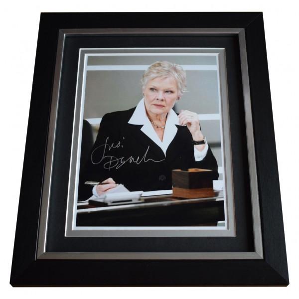 Judi Dench SIGNED 10x8 FRAMED Photo Autograph Display James Bond Film AFTAL  COA Memorabilia PERFECT GIFT