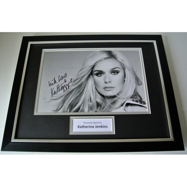 Katherine Jenkins SIGNED FRAMED Photo Autograph 16x12 display Wales Music & COA  	 PERFECT GIFT
