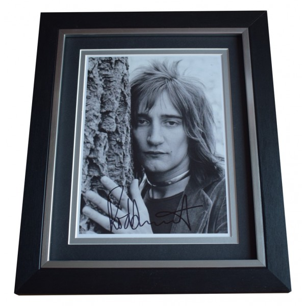 Rod Stewart SIGNED 10x8 FRAMED Photo Autograph Display Music  AFTAL  COA Memorabilia PERFECT GIFT