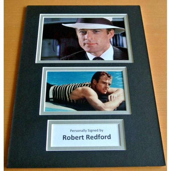 Robert Redford SIGNED autograph A4 Photo Mount Display Great Gatsby Film   AFTAL & COA Memorabilia PERFECT GIFT