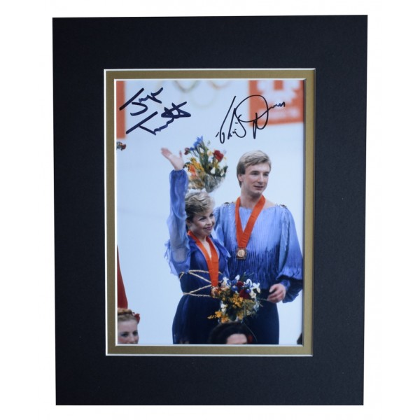 Torvill & Dean Signed Autograph 10x8 photo display Ice Skating  AFTAL  COA Memorabilia PERFECT GIFT