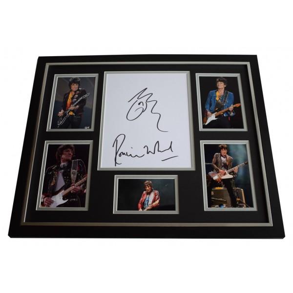 Ronnie Wood SIGNED FRAMED Photo Autograph Huge display Rolling Stones ART COA AFTAL Memorabilia MUSIC
