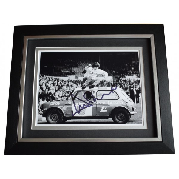 Duncan McKenzie SIGNED 10x8 FRAMED Photo Autograph Display Leeds Football  AFTAL  COA Memorabilia PERFECT GIFT