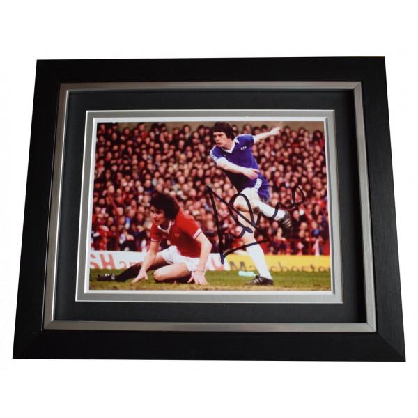 Duncan McKenzie SIGNED 10x8 FRAMED Photo Autograph Display Everton Football  AFTAL  COA Memorabilia PERFECT GIFT