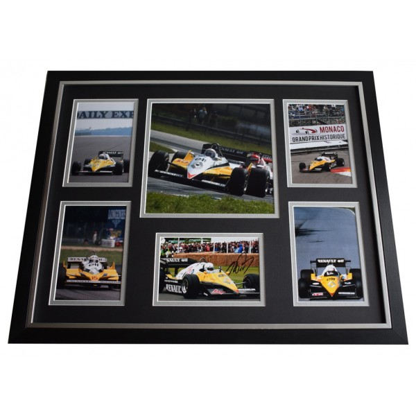 Alain Prost SIGNED Framed Photo Autograph Huge display Formula 1 Racing COA AFTAL Motor Racing Memorabilia