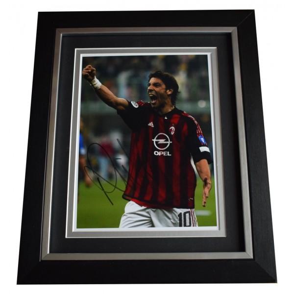 Rui Costa SIGNED 10x8 FRAMED Photo Autograph Display A.C. Milan Football   AFTAL  COA Memorabilia PERFECT GIFT