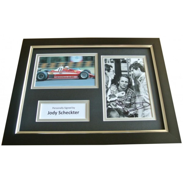 Jody Scheckter Signed A4 FRAMED Photo Autograph Display Formula 1 Racing & COA PERFECT GIFT