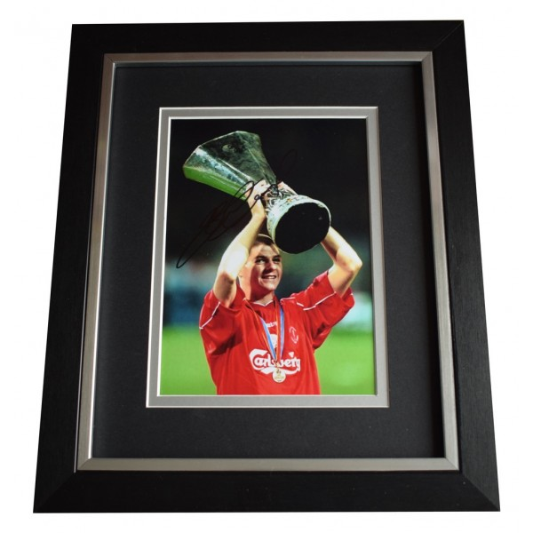 Steven Gerrard SIGNED 10x8 FRAMED Photo Autograph Display Liverpool Football  AFTAL  COA Memorabilia PERFECT GIFT