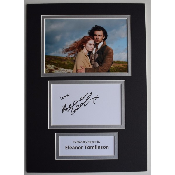 Eleanor Tomlinson Signed Autograph A4 photo display TV Poldark AFTAL &  COA Memorabilia