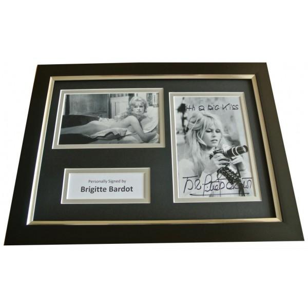 Brigitte Bardot Signed A4 FRAMED Photo Autograph Display Hollywood Film & COA PERFECT GIFT