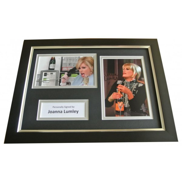 Joanna Lumley Signed A4 FRAMED Photo Autograph Display Absolutely Fabulous & COA PERFECT GIFT