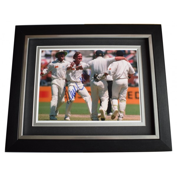 Phil Tufnell SIGNED 10x8 FRAMED Photo Autograph Display Cricket Sport   AFTAL  COA Memorabilia PERFECT GIFT