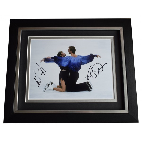 Torvill & Dean SIGNED 10x8 FRAMED Photo Autograph Display Ice Skating  AFTAL  COA Memorabilia PERFECT GIFT