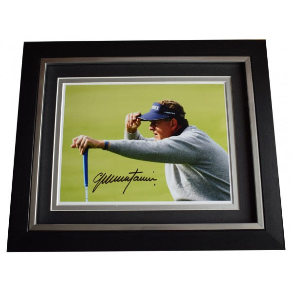 Colin Montgomerie SIGNED 10x8 FRAMED Photo Autograph Display Golf Sport  AFTAL  COA Memorabilia PERFECT GIFT