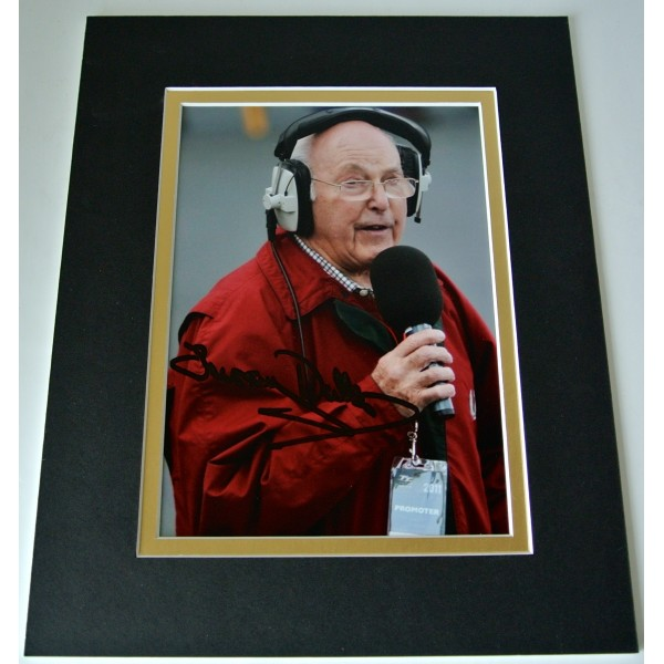 Murray Walker Signed Autograph 10x8 photo display Formula 1 Commentator & COA Perfect Gift