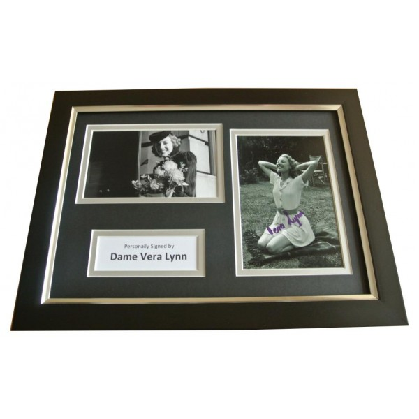 Dame Vera Lynn Signed A4 FRAMED Photo Autograph Display WW2 Forces Music & COA PERFECT GIFT
