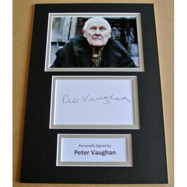 PETER VAUGHAN HAND SIGNED AUTOGRAPH A4 PHOTO DISPLAY GAME OF THRONES GIFT & COA PERFECT GIFT