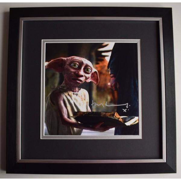Toby Jones SIGNED Framed LARGE Square Photo Autograph display Harry Potter  AFTAL &  COA Memorabilia