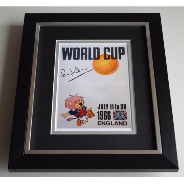 Ray Wilson SIGNED 10X8 FRAMED Photo Autograph England World Cup 1966 Display COA AFTAL COA Football Memorabilia